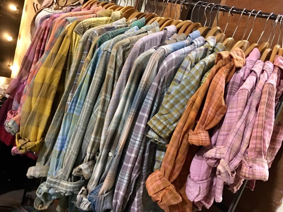 Clothes that are hanged up